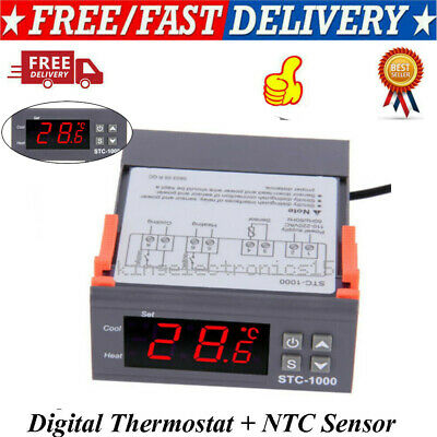 Digital Temperature Controller Thermostat Ntc Thermal Sensor Stc-1000 Heatcool