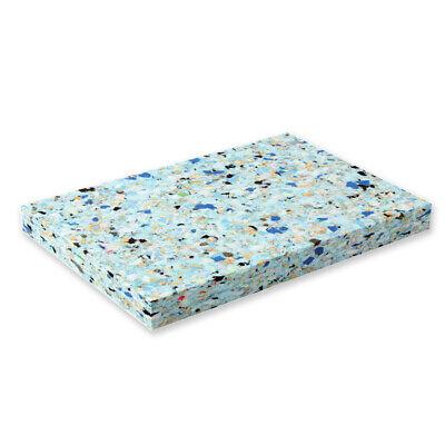 "Yoga Chip Foam Block YogaStudio 1"" High Density Recycled Exercise Prop Kneeler"