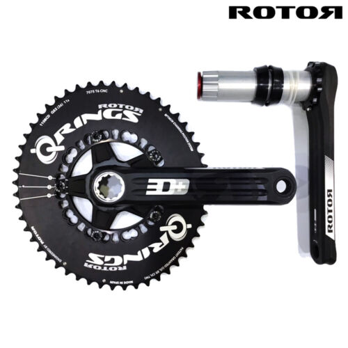 [CLEARANCE] ROTOR 3D+ CRANKSETS with 50T Qrings only(No 34T rings) - 170mm