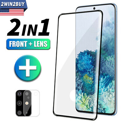 F Samsung Galaxy S20 Ultra Plus Tempered Glass Camera Lens+Screen Protector Film