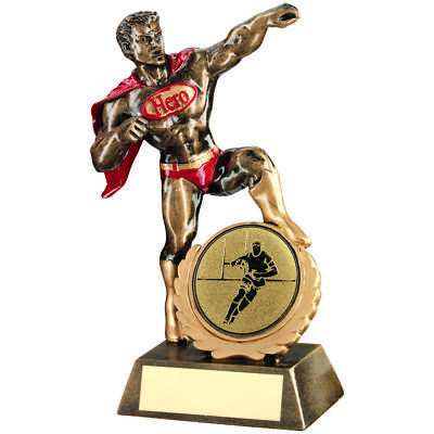 Rugby Super Hero Cape Award Fun Novelty Gifts Sport Trophy - FREE Engraving