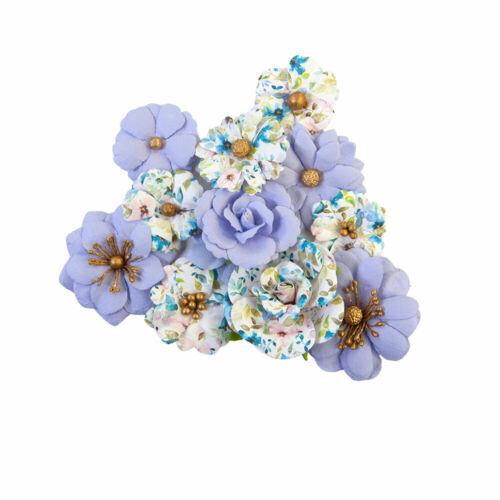 Prima Flowers - Watercolor Floral - BLANK CANVAS - Mulberry Paper -12 pcs#653125