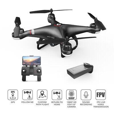 Pure Stone HS110G GPS drone with camera 1080P FPV Selfie RC quad return home A+