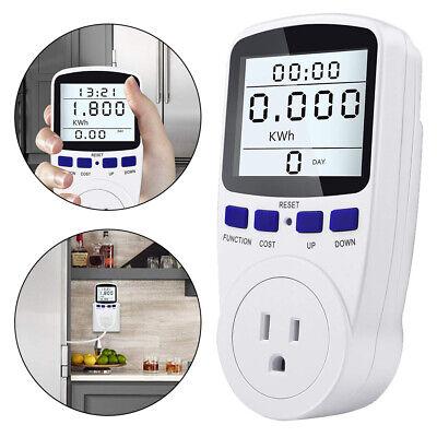 Digital Outlet Power Saving Meter Energy Monitor Volt Watt Voltage Amps Analyzer