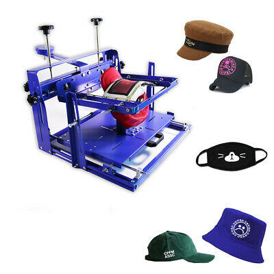 1 Color Hat Printer Screen Printing Machine Baseball Cap Arc-shaped Press Tool