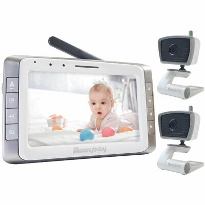 """MoonyBaby 5"""" Large LCD Video Baby Monitor with 2 Cameras (MANUALLY Rotated)"""