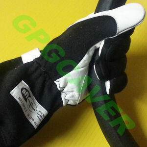 Nomex Leather Racing Driving Gloves Black Med Sfi 3 5 Tagged Certified