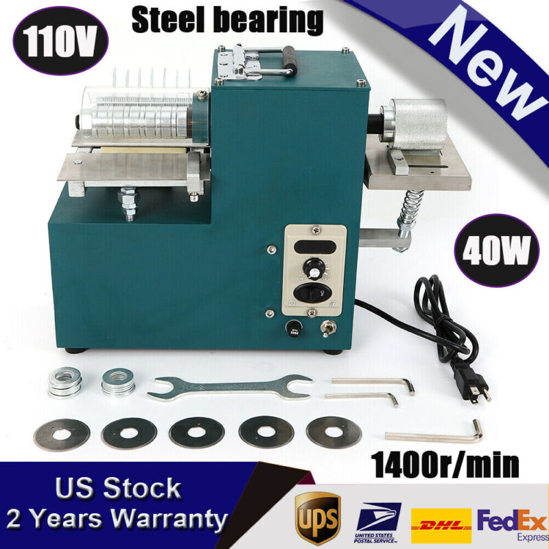【UPGRADE】Electric Leather Slitter Leather Cutting Machine Shoe Bags Cutter 110V