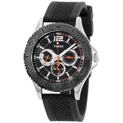 Timex Black Dial Silicone Strap Men's Watch TW2P87500
