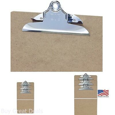 Clipboard Holder Steel Clip Keep Papers Wood Office School Letter Size 3 Pcs 6in