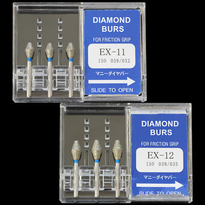 10 Boxes Ex-11 Mani Dia-burs Dental High Speed Handpiece Diamond Burs Fg 1.6mm