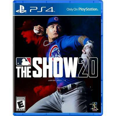 MLB The Show 20 -- Standard Edition (Sony PlayStation 4, 2020) PS4 NEW