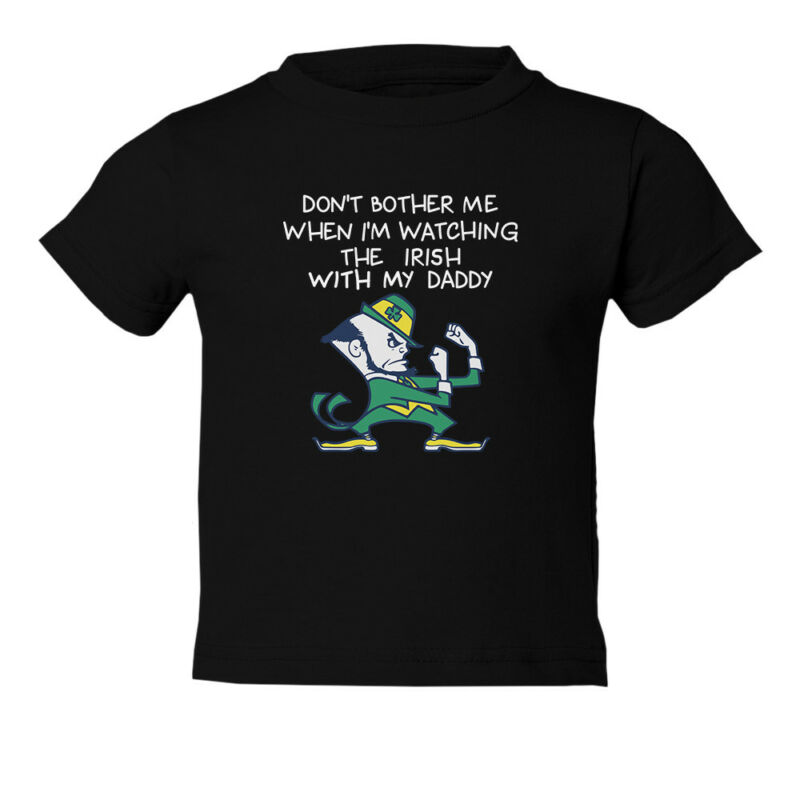 Notre Dame Watching With Daddy Toddler T-Shirt
