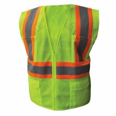 Ironwear 1287 Class 2 Safety Vest W/Two Tone Stripe 6 Pockets M-5X Hi Visibility Clothing & Accessories