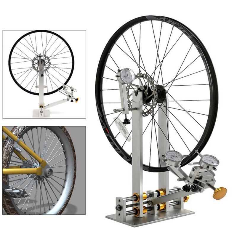 Bicycle Wheel Truing Stand Bike Hub Maintenance Repair Platform w/ Mechanic Tool