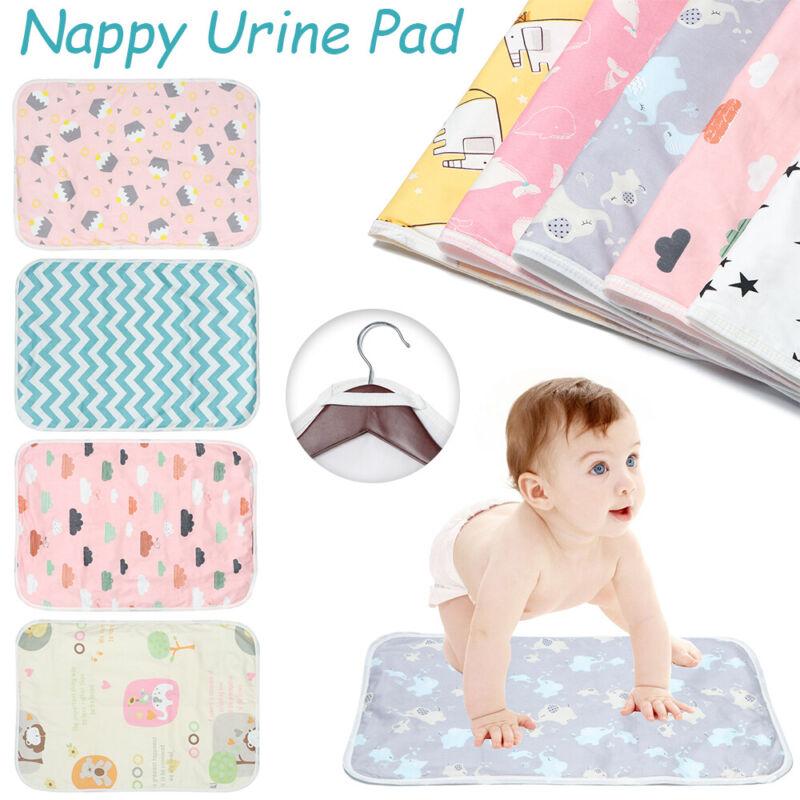 Reusable Absorbent Cloth Changing Pad Cover Mat Towel Nappy Urine Mat