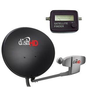 DISH Network 1000.2 HD Antenna Triple DPP LNB & Analog Satellite Finder Compass