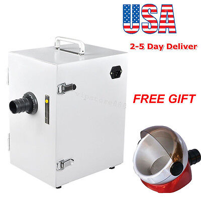 Dental Lab Digital Single-row Dust Collector Vacuum Cleaner 370w Suction Base