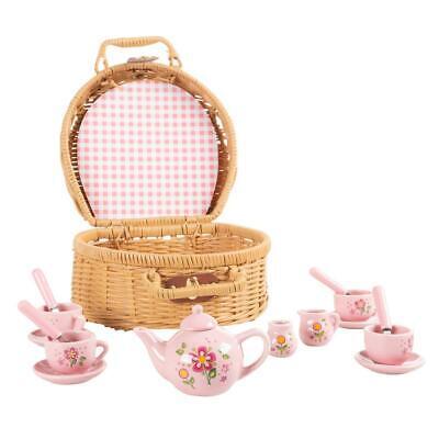 Toddler Tea Party Set for Kids Porcelain Pretend PlaySet Ado