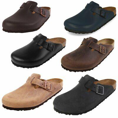 Birkenstock Boston Schuhe Sandalen Pantoletten Leder Klassische Farben Clogs