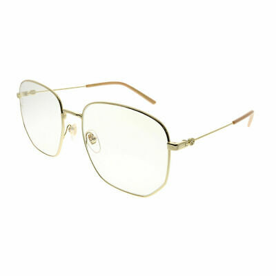 Gucci GG 0396S 001 Gold Metal Square Sunglasses Transparent -