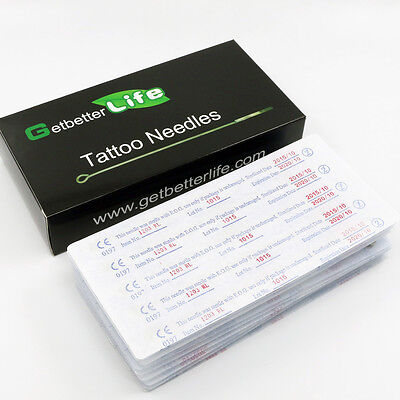 Pro New 50 Pcs Disposable Round Liner Sterile Tattoo Needles Supplies 1RL