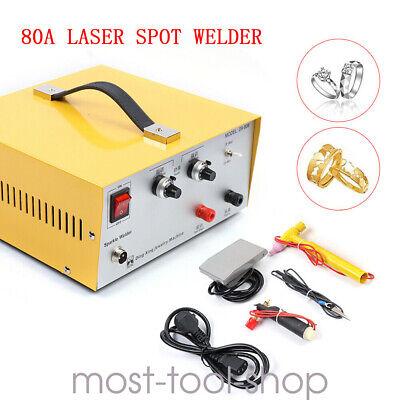 Jewelry Welding Machine Pulse Spot Welder Electric Soldering Gold Silver 80a400w