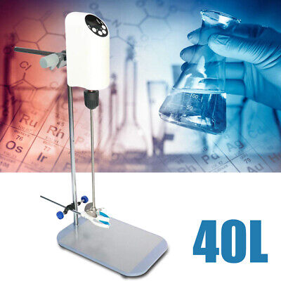 40l Lab Electric Overhead Stirrer Digital Display Mixer Agitator Homogenizer
