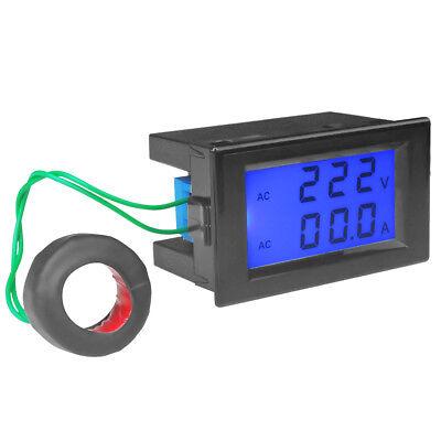 Digital Lcd Ac 200-450v Volt Amp Meter Ammeter Voltmeter Panel 80-300v 100a 200a