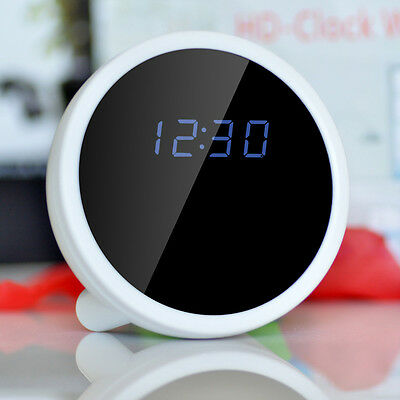 1080P HD Spy Hidden Alarm Clock WiFi Table Clock IP Camera Wireless Camcorder DV