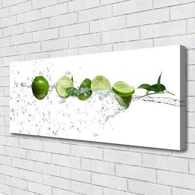 Tulup Cuadro sobre lienzo Foto lona Pared 125x50 Agua lima Cocina