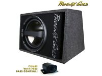 "12"" Active Subwoofer Bass Speaker Box -FREE Wiring & Bass Level Control"