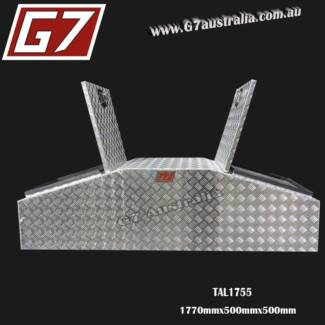 Gull Wing Aluminium Tool box 1770x500x500 checker plate toolbox Brisbane City Brisbane North West Preview