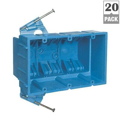 20-pack Carlon Bh353a Pvc 3 Gang Switch Outlet Box Blue 53.0 Cu. In.