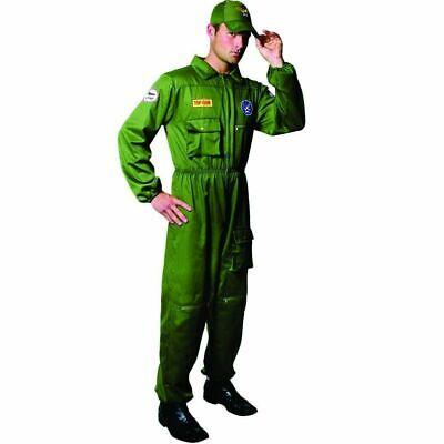 Top Gun Outfit (Adult US Air Force Pilot Fancy Dress Outfit Size Large Top)