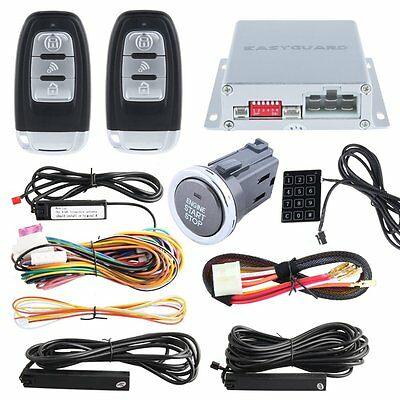 Pke Car Alarm System Long Push Button Remote Engine Start Touch Password Entry