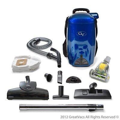 - BLUE 8 Qt Lightweight Powerful HEPA BackPack Hardwood floor Carpet Vacuum by GV