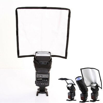 Foldable Speedlight Reflector Snoot Sealed Flash Softbox Diffuser Bender Beam L