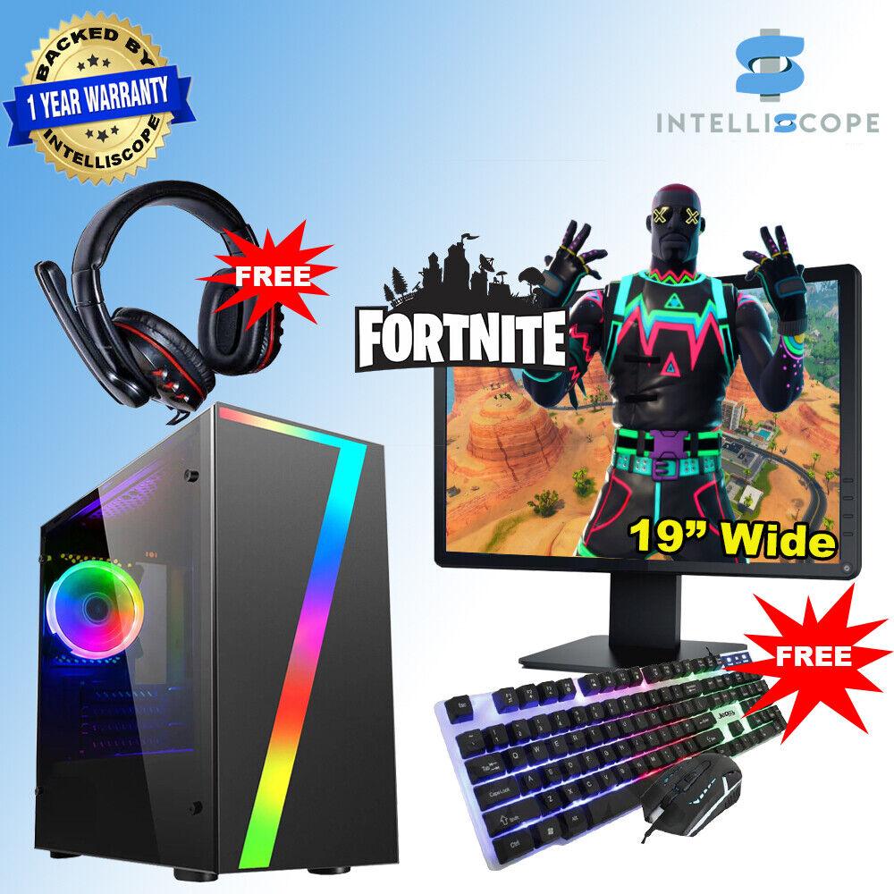 Computer Games - Fast Gaming PC Computer Bundle Intel Quad i5 4th 16GB 1TB HDD WIN 10 2GB GT1030