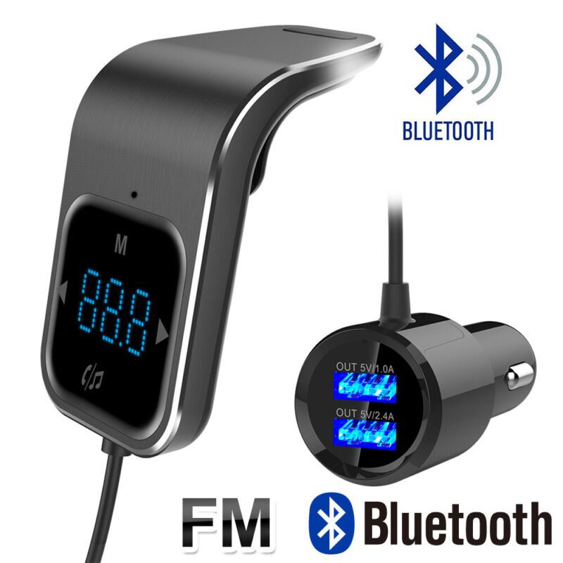 New Bluetooth FM Transmitter Hands-free Radio Receiver MP3 Audio Adapter US Ship