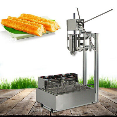 Safty Use Manual Maker Spanish Donut Churro Machine 3l Stainless Steel12l Fryer