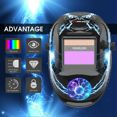 True Color Pro Solar Auto Darkening Welding Helmet Arc Tig Mig Welder Mask