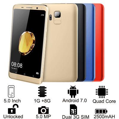 """5.0"""" S9 Telefono Android 7.0 Smartphone da Dual 3G SIM GPS Cellulare Sbloccato"""