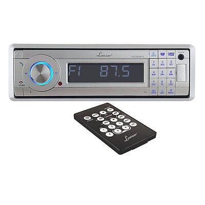 AM/FM Marine In-Dash Detachable Face Radio w/CD/MP3/USB/SD/AUX In w Bluetooth on Rummage