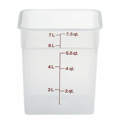 Cambro Food Storage Container - Camsquare 8 Qt Polypropylene