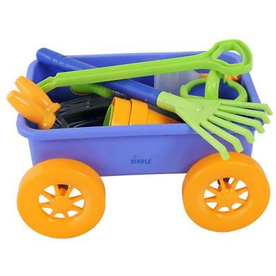 Dimple: Premium 15-Piece Gardening Tools & Wagon Toy Set - Sturdy & Durable ()