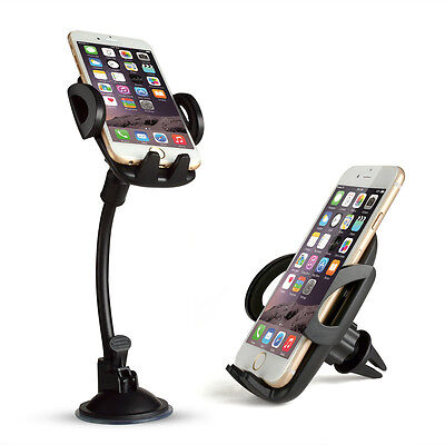 FIXM 5-in-1 Universal Car Mount Holder Bracket Rotatable for Smartphones GPS New