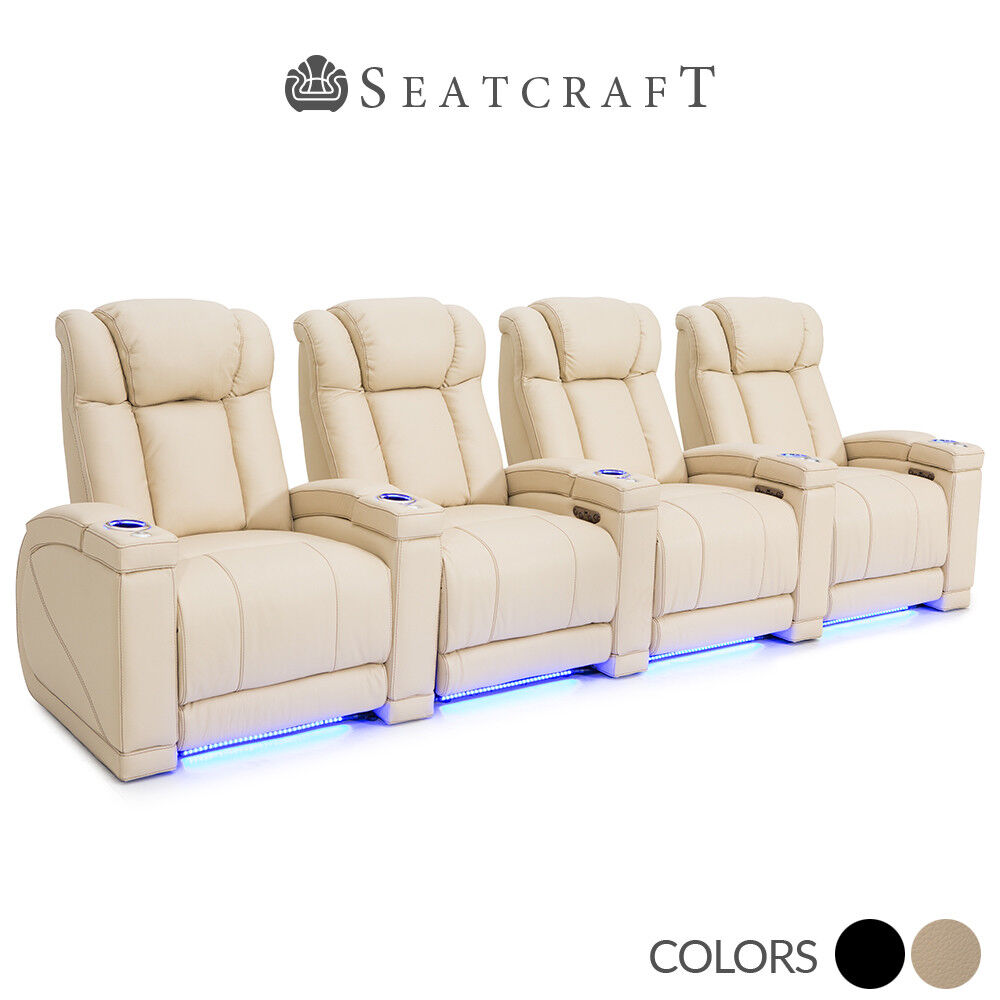Seatcraft Sierra Leather Home Theater Seating Recliners Seat