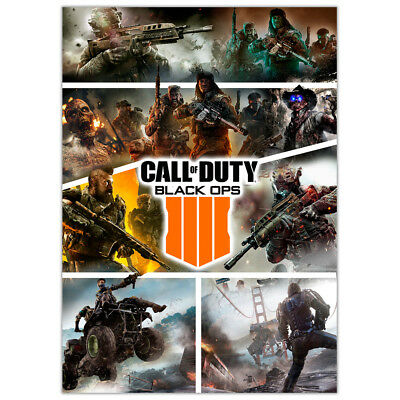 Call of Duty Black Ops 4 | Wall Art Game Posters | Boys Girls | Best Gift