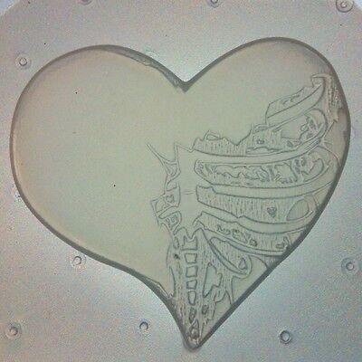 Flexible Resin Mold Skeleton Torso Heart Mould Resin Craft Supplies - Skeleton Torso
